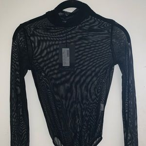 Pretty little thing long sleeve mesh bodysuit